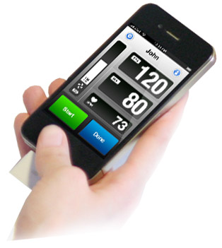 Tlakomer iPhone, iPad 1-2-3 - Blood Pressure Monitor