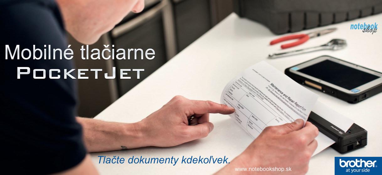 Mobilné tlačiarne Brother Pocket Jet