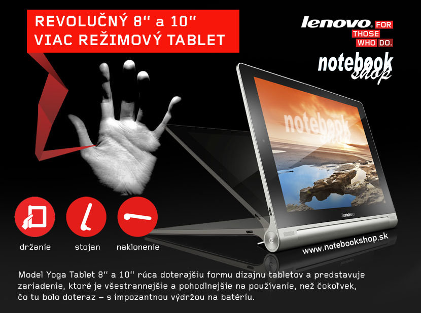 IdeaPad Yoga Tablet 8 a 10