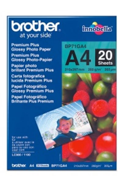 Fotopapier Brother BP71 Premium Glossy A4, 260g, 20ks