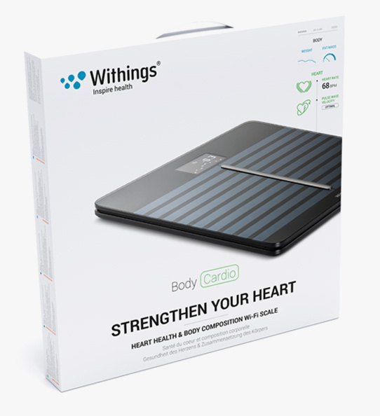 Obrázok produktu Withings Body Cardio Heart & Body Composition Wi-Fi scale black