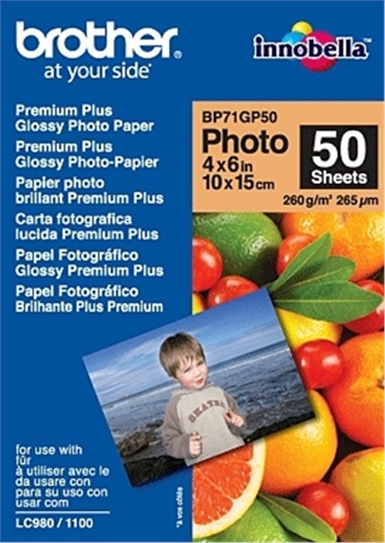 Fotopapier Brother BP71 Premium Glossy 10x15cm, 260g, 50ks