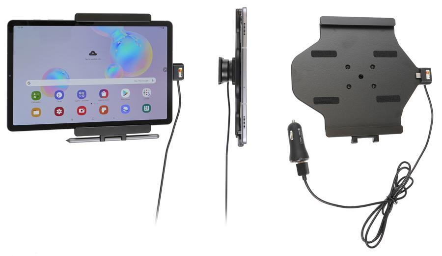 Obrázok produktu Aktívny držiak do auta pre Samsung Galaxy Tab S6 10.5 USB+CL