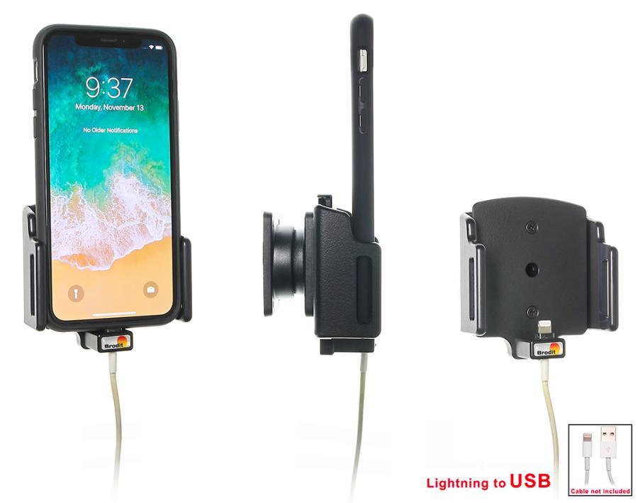 Obrázok produktu Nastaviteľný držiak pre Apple iPhone X/Xs/XR/11 pre kábel/ USB puz