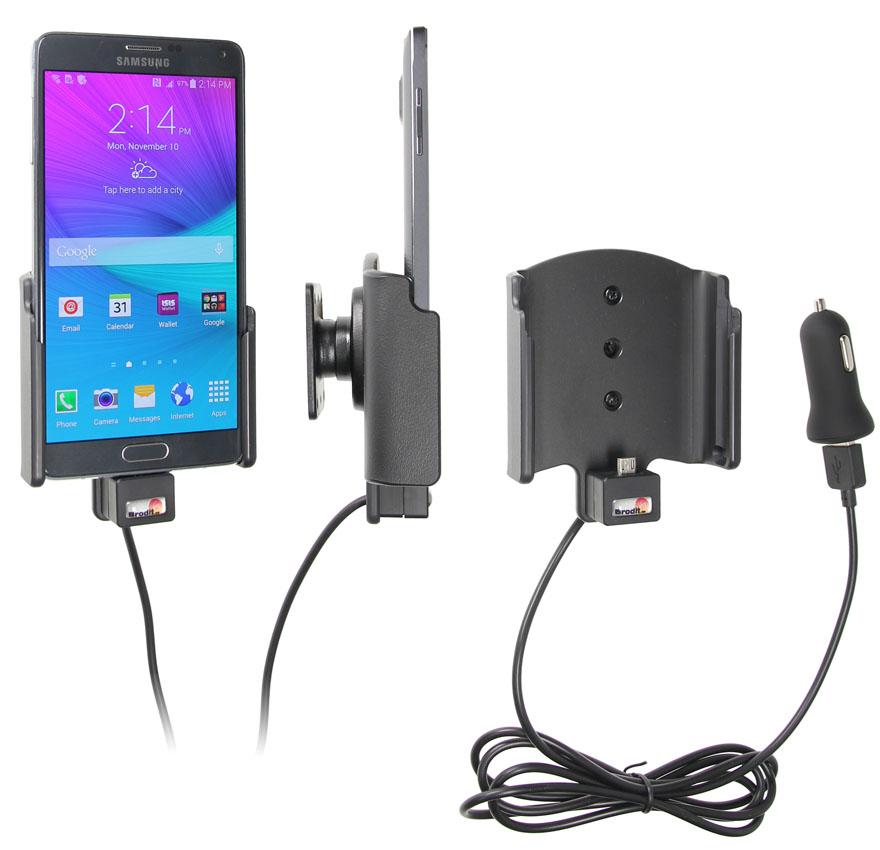 Obrázok produktu Aktívny držiak pre Samsung Galaxy Note 4 N910F USB+CL