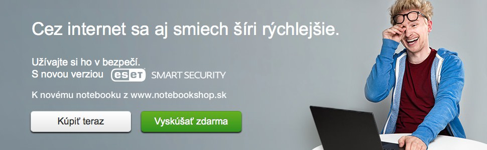 Eset Smart Security k notebooku z www.notebookshop.sk