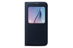 Obrázok produktu Puzdro Fabric Flip Cover S-view pre Samsung Galaxy S6 Black