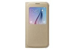 Obrázok produktu Puzdro Fabric Flip Cover S-view pre Samsung Galaxy S6 Gold