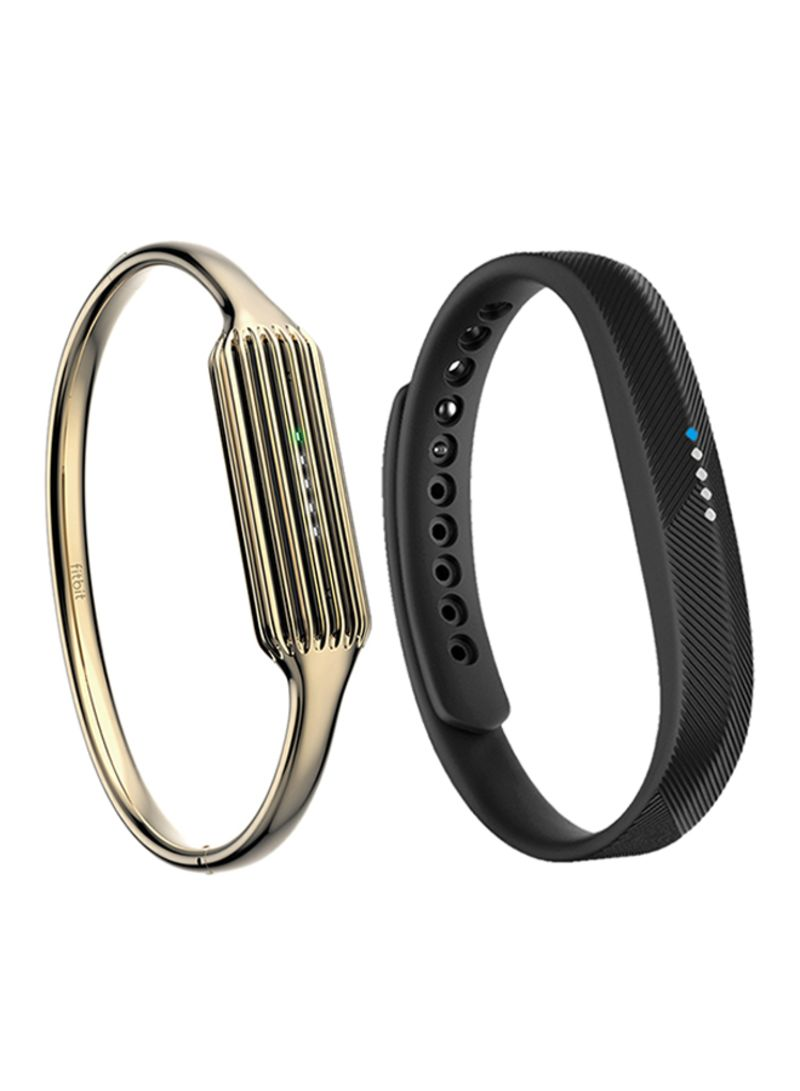 Fitbit Flex 2 Fitness Wristband Gold Bangle Pack