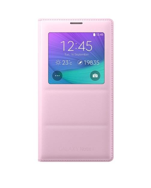 Obrázok produktu Puzdro Flip Cover S-view pre Samsung Galaxy Note 4 pink