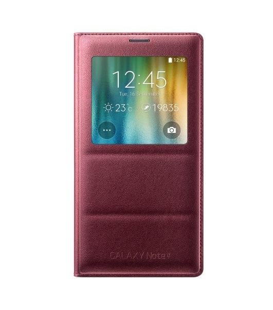 Obrázok produktu Puzdro Flip Cover S-view pre Samsung Galaxy Note 4 plum