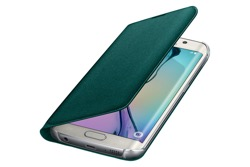 Obrázok produktu Puzdro Fabric Flip Cover pre Samsung Galaxy S6 edge Green