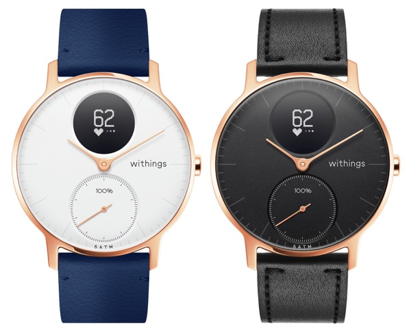 Withings Steel HR 36mm Rose Gold Leather
