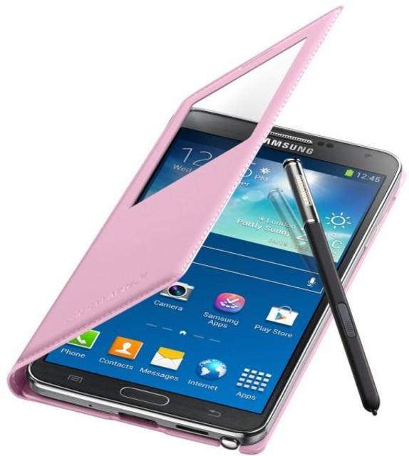 Obrázok produktu Puzdro Flip Cover S-view pre Samsung Note 3 N9005 pink