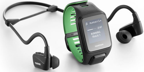 TomTom Runner 3 Cardio+ Music+ Headphones Black/Green